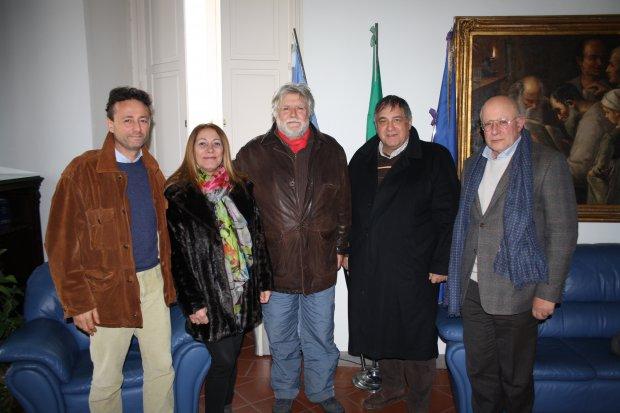 Da sx Marco Ziccardi, Libera Del Grosso, Franco Nardone, Vincenzo D'Elia e Federico de Cristofaro