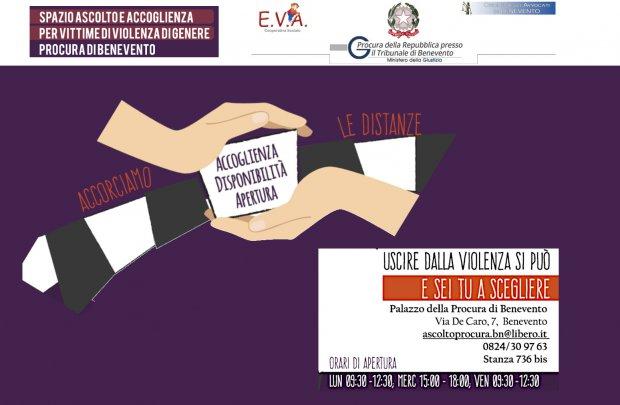 sportello di ascolto della Procura di Benevento per le vittime di violenza