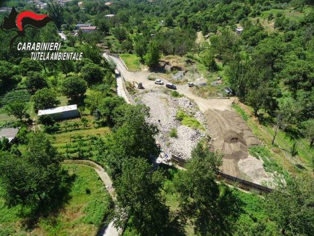 Carabinieri del NOE di Salerno - Area sequestrata a Bracigliano