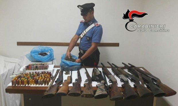 Armi e droga rinvenute
