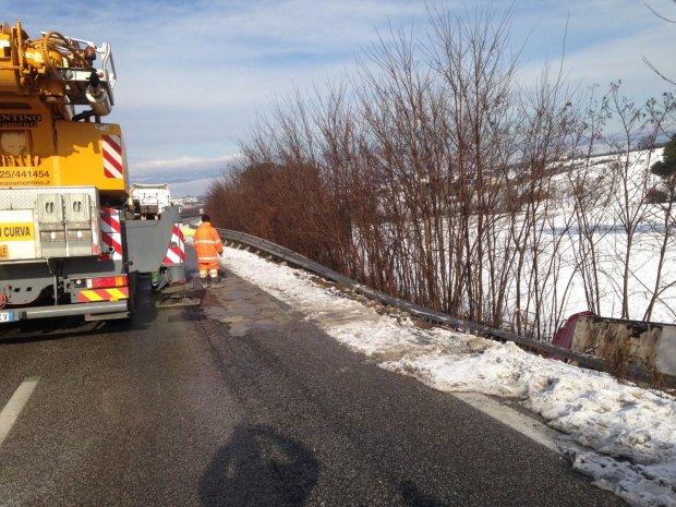 Recupero del tir incidentale sul raccordo Benevento Est. Disagi per il traffico