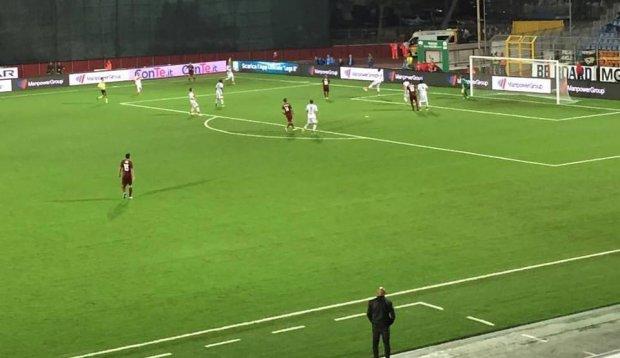 Il goal di Citro. Foto: Trapani Calcio profilo fb