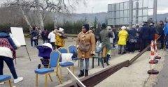 Protesta migranti Appia