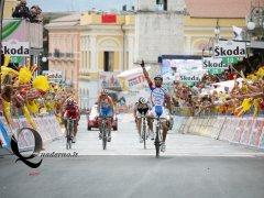 Benevento - L'arrivo di Michele Scarponi (Foto: Lorenzo Palmieri)