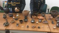 Guardia di Finanza di Napoli. Sequestro reperti archeologici