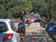 Benevento. Lavori al Ponte San Nicola (Ottobre 2015)