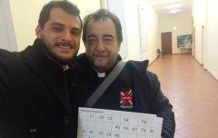 Don Nicola De Blasio e Danilo Travaglione