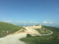Impianto eolico in costruzione a Pontelandolfo (Benevento)