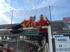Benevento in Serie B. L'esultanza dei tifosi, la festa della citta'