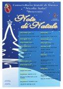 Note di Natale 2015. Il programma della manifestazione del Conservatorio di Benevento