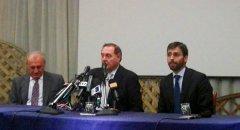 Clemente Mastella durante la Conferenza Stampa per la sua assoluzione con formula piena per il Caso Udeur