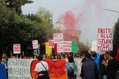 La protesta a Benevento