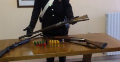 Arpaia. Armi ritrovate e sequestrate dai Carabinieri