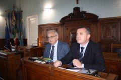 Il presidente di Assostampa Sannita Giovanni Fuccio con il presidente della Provincia Antonio Di Maria