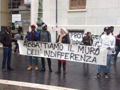sit-in migranti Benevento