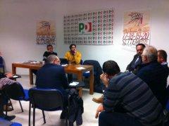 La riunione con Martinangelo e Mortaruolo nella sede PD. foto profilo fb Mino Mortaruolo