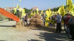 Protesta grano Coldiretti