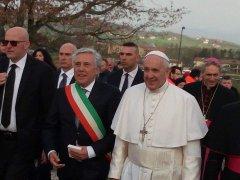 Sindaco Masone e Papa Francesco