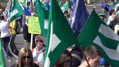 Trattati di Roma, tutti i colori della marcia per l'Europa