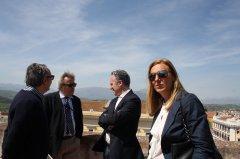 Mauro Felicori, direttore della Reggia di Caserta, in visita alla Rocca dei Rettori