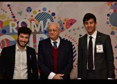 Luca Cavalli, a destra, con l'ex ministro Luigi Berlinguer