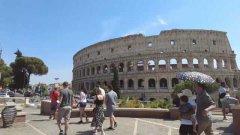 Turisti al Colosseo (Roma)