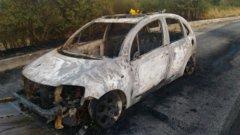 Incendio auto Statale Sannitica
