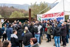 Protesta impianto compostaggio