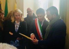 Francesco Rubano con Matteo Salvini