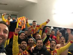 I Sanniti Five Soccer festeggiano la vittoria contro il San Nazzaro