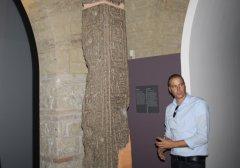 Sopralluogo di Erik Risser, restauratore  del Paul Getty Museum, al Museo Arcos di Benevento.