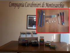 Materiale sequestrato CC Montesarchio