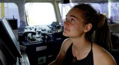 Carola Rackete comandante della nave Sea Watch 3 (ONG)