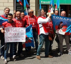 Protesta del Conapo a Roma