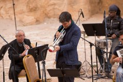 Luca Aquino a Petra in Giordania