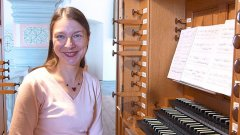 Maestro Ekaterina Kofanova, organista titolare della Chiesa di S. Pietro di Basilea