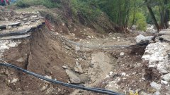 Ponte crollato a Casalduni