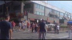 Napoli. Protesta dei cittadini per insediamento rom  (ex mercato ortofrutticolo)