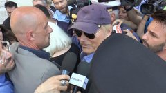 Terence Hill al funerale di Bud Spencer
