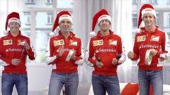 Ferrari, il coro dei piloti per gli auguri di Natale
