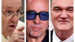 Papa Francesco, Quentin Tarantino e Tim Burton