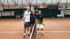 Tennis. Torneo Citta' di Morcone. I finalisti Zocco e Pizza dei Tornei 2016 e il presidente Iacobelli