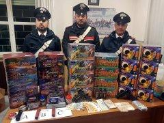 Maxi sequestro di materiale pirotecnico illecito effettuato dai Carabinieri