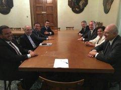Visita ufficiale a Confindustria dell'Arcivescovo di Benevento Felice Accrocca