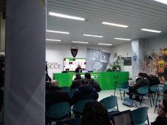 Bucchi alla conferenza stampa dopo la partita Lecce - Benevento