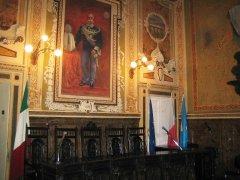 L'aula consiliare del Comune di S.Agata de' Goti