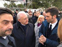 Mortaruolo, Matera, De Luca ed il prefetto Galeone