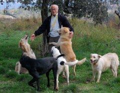 Pasquale Casciello con i suoi cani