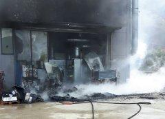 Incendio fabbrica Paupisi