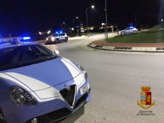 Benevento - Volante della Polizia di Stato